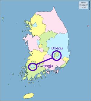 Daegu to Gwangju